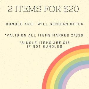 Sale! *2/$20